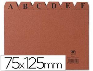 INDICE FICHERO CARTON Nº 2 75X125 MM