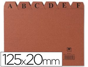 INDICE FICHERO CARTON Nº 4 125X200 MM