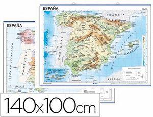 MAPA FISICO/POLITICO ESPAÑA 140X100
