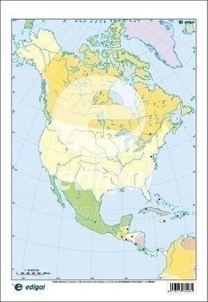 MAPA AMERICA DEL NORTE POLITICO