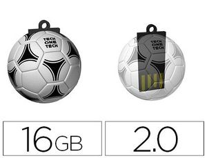 MEMORIA USB TECHONETECH FLASH DRIVE 16 GB 2.0 BALON DE FUTBOL GOL-ONE