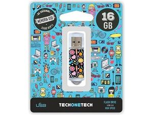 MEMORIA USB TECHONETECH FLASH DRIVE 16 GB 2.0 CANDY POP