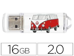 MEMORIA USB TECHONETECH FLASH DRIVE 16 GB 2.0 CAMPER VAN-VAN
