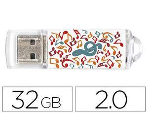 MEMORIA USB TECHONETECH FLASH DRIVE 32 GB 2.0 MUSIC DREAM