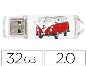 MEMORIA USB TECHONETECH FLASH DRIVE 32 GB 2.0 CAMPER VAN-VAN