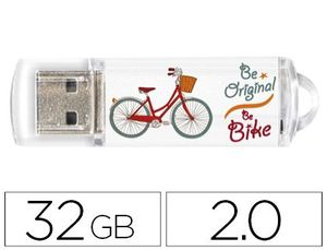 MEMORIA USB TECHONETECH FLASH DRIVE 32 GB 2.0 BE BIKE