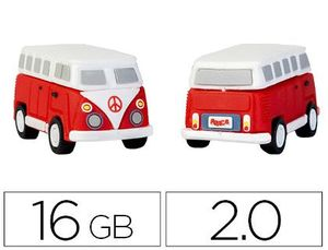MEMORIA USB TECHONETECH FLASH DRIVE 16 GB 2.0 HIPPY VAN BANG CAMPER