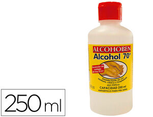ALCOHOL ETILICO ALCOHOBEN DE 70º BOTE DE 250 ML