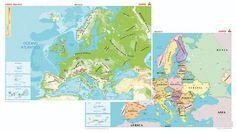 MAPA MURAL EUROPA (FISICO/POLITICO)