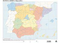 MAPAS ESPAÑA POLITICO MUDOS