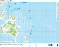 MAPA OCEANIA FISICO MUDO