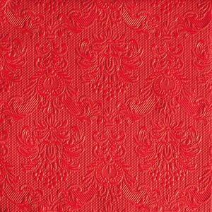 SERVILLETAS 33X33 CM ELEGANCE RED PACK 20 UD