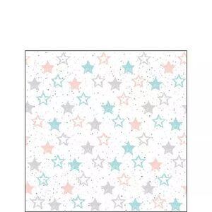 SERVILLETAS 33X33 CM  STARS ALL OVER PETROL PACK 20 UD