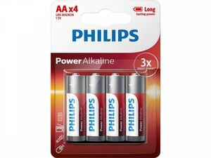 PILA LR6 POWER ALKALINE PHILIPS AA BLISTER 4