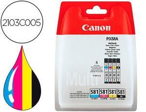 INK-JET CANON CLI 581 PIXMA TR8550 / TS6250 / TS8250 / TS9150 / TS9550 PACK 4 NEGRO AMARILLO CIAN MA