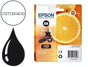 INK-JET EPSON 33 XL EXPRESSION PREMIUM XP530 / 630 / 635 / 830 NEGRO 8,1 ML 400 PAG