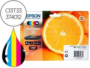 INK-JET EPSON CLARIA 33 T3337 XP530/630/635/830 MULTIPACK 4 COLORES NEGRO / AMARILLO / CIAN / MAGENT
