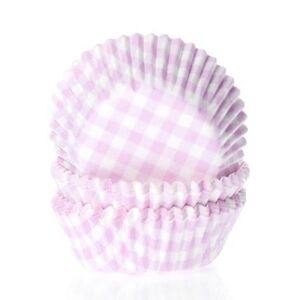 BAKING CUPS GINGHAM PINK 50X33 MM
