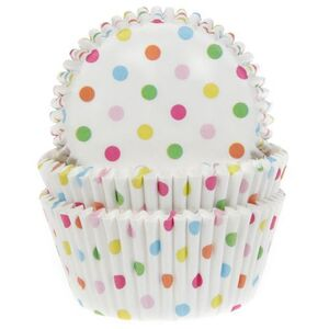 BAKING CUPS CONFETTI 50X33 MM PAQ. 50 UDS.