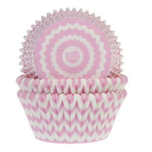 BAKING CUPS CHEVRON PINK 50X33 MM PAQ. 50 UDS.