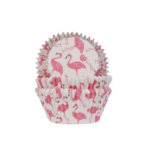 BAKING CUPS FLAMINGO 50X33MM PAQ. 50 UDS.