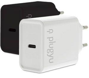 CARGADOR PLUGYU PARED USB TYPE-C CARGA RAPIDA BLANCO