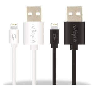 CABLE PLUGYU APPLE LIGHTING-1.5A NEGRO