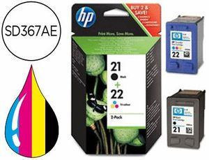 INK-JET HP N 21 + 22 DJ 3920 3940 D2360 2460 F300 350 380 2180 4100 4180 PSC SERIES 1400 OJ