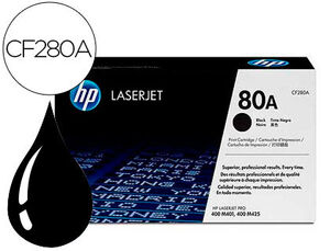TONER HP LASERJET NEGRO CF280A 2700 PAG