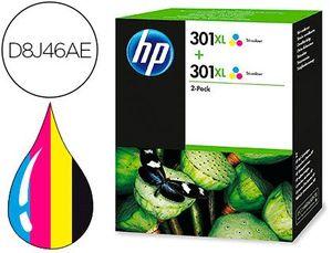 INK-JET HP 301XL DESKJET 1000 / 1050 / 2000 / 2050 / 2510 / 3000 / 3050 / 3052 / 3054 TRICOLOR PACK