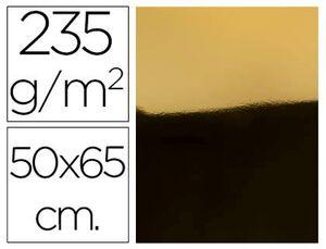 CARTULINA METAL ORO 50X65 CM 235 GR