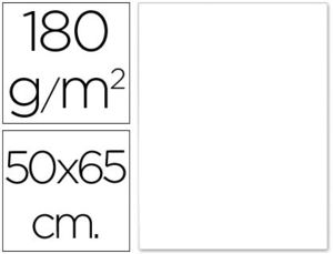 CARTULINA 50X65 BLANCO 180 GR