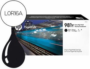 INK-JET HP 981Y PAGEWIDE 556DN / 556XH / MFP 586DN / MFP 586F / MFP 586Z / E55650DN / MFP E58650DN /