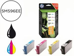 INK-JET HP 364XL NEGRO + TRICOLOR 750 PAGINAS