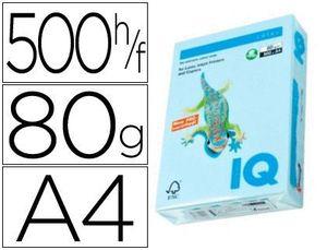 PAPEL IQ MULTIFUNCION AZUL PASTEL 80 GR PAQ 500 HJ