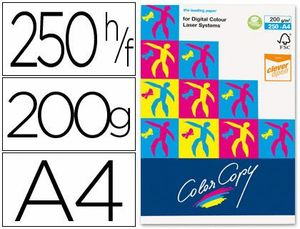 PAQUETE PAPEL COLOR COPY 200 GR BLANCO 250 UD