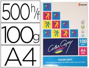 PAQUETE PAPEL COLOR COPY A4 100 GR 500 UD