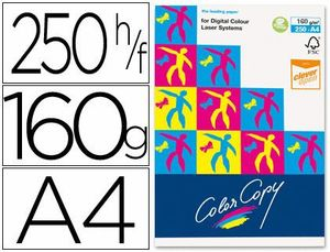 PAQUETE PAPEL COLOR COPY A4 160 GR 250 UD