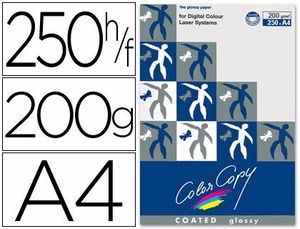 PAPEL COLOR COPY GLOSSY A4 200 GR PAQ 250 HJ