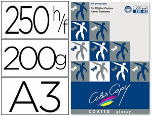 PAPEL COLOR COPY GLOSSY A3 200 GR PAQUETE 250 HJ
