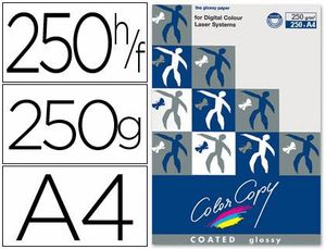 PAPEL COLOR COPY GLOSSY A4 250 GR PAQ 250 HJ