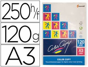 PAPEL COLOR COPY 120 GR A3 PAQ 250 HJ