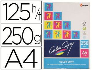 PAQUETE PAPEL COLOR COPY A4 250 GR 125 UD
