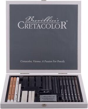 ESTUCHE MADERA BLACK & WHITE CRETACOLOR