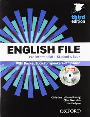 ENGLISH FILE 3RD EDITION PRE-INTERMEDIATE. STUDENT'S BOOK + WORKBOOK WITH KEY PA