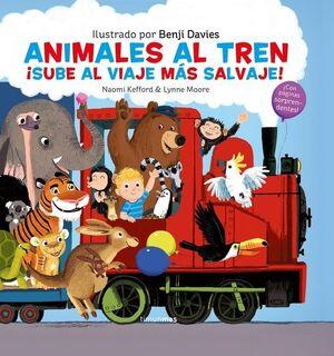 ANIMALES AL TREN.(LIBROS CON SOLAPAS Y LENGUETAS)