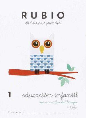CUADERNO RUBIO A5 E.I. Nº 1 ANIMALES DEL BOSQUE
