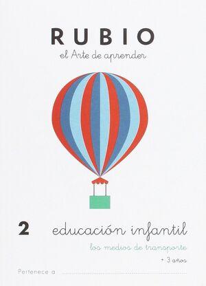 CUADERNO RUBIO A5 E.I. Nº 2 MEDIOS TRANSPORTE