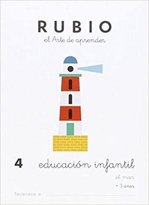 CUADERNO RUBIO A5 E.I. Nº 4 EL MAR