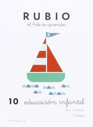 CUADERNO RUBIO A5 E.I. Nº 10 LOS PIRATAS